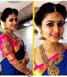 Buy Blue printed bhagalpuri saree with blouse all-seasons-saree online