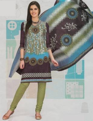 Cotton dress material elegant designer unstitched suit d.no 2108