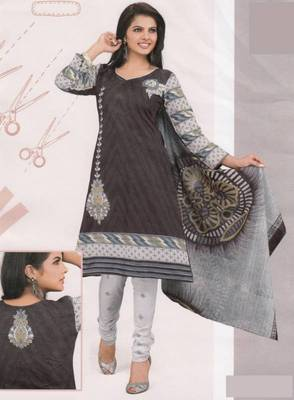 Cotton Dress Material Elegant Designer Unstitched Suit D.No 2129