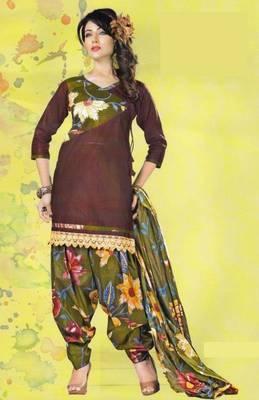 Dress Material Lawn Cotton Prints Unstitched Salwar Kameez Suit D.No PD109