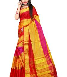 Buy Yellow woven silk saree with blouse all-seasons-saree online