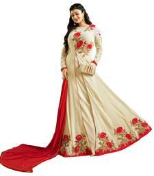 Buy Off-White  Resham Embroidery,Diamond Stone Work & Lace Work  Anarkali Salwar Kameez ayesha-takia-salwar-kameez online