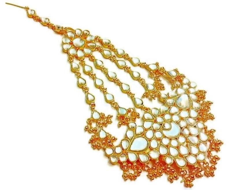 Buy rajwara kundan gold plated wedding pasa Online