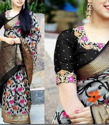 Buy Multicolor printed silk saree with blouse all-seasons-saree online