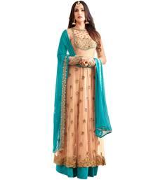Buy Chiku embroidered georgette salwar salwar-kameez-below-2000 online