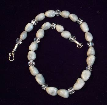 Crystal And Grey Stone Necklace