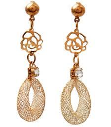 Buy Gold metallic beryl yellow gold hoops hoop online