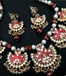Buy padmawati meenakari royal necklace set necklace-set online