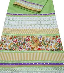 Buy Kromé light green coloured with lace and border work semi stitched rida dress rida online