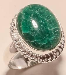 Buy Aventurine  gemstone 925 silver handmade jewelry ring 9 gemstone-ring online