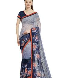 Buy Indian women multicolor Designer Saree with Heavy Work Raw Silk saree with blouse georgette-saree online