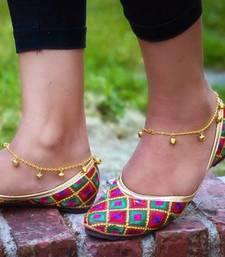 Buy Ghungroo Jingle Golden Adjustable Anklet Pair anklet online