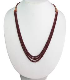 Buy Lifestyle ruby faceted roundel beads necklace (gsn16) Necklace online