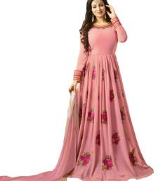 Buy Pink embroidered georgette salwar ethnic-suit online