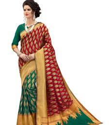 Buy Multicolor woven banarasi silk saree with blouse banarasi-silk-saree online