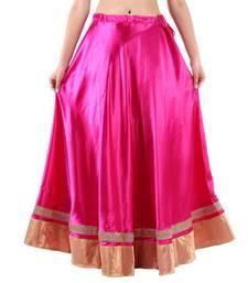Buy Pink Satin skirts skirt online