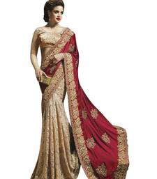 Buy Maroon embroidered georgette saree with blouse georgette-saree online