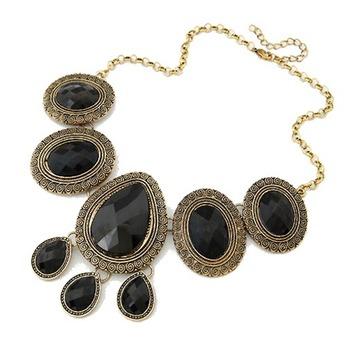Black stones choker neckpiece(CFN0152)