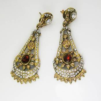 Victorian Floral Earring Copper