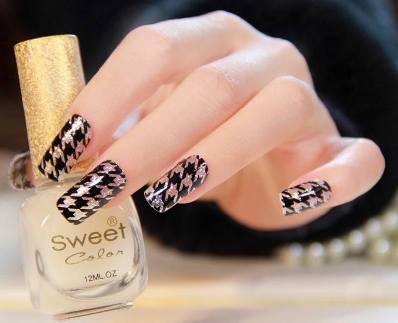 Shimmer \'n sparkle, new fashion metallic shining nail art sticker, french style nail art decoration
