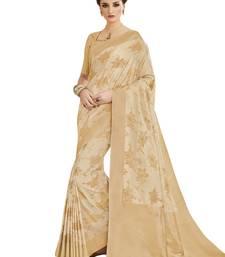 Buy Cream banarasi silk woven saree with blouse banarasi-silk-saree online
