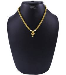 Buy Traditional Handmade Gold Plated Jewellery Red Crystal Pendal Alloy Necklace for Womens Necklace online
