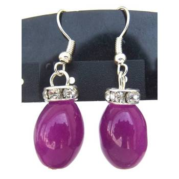 purple Drop earrings/JW-682L