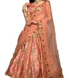 Buy multicolor silk embroidered lehenga with dupatta lehenga-choli online
