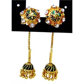 Needle thread earrings/JW-713