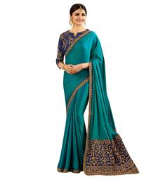 Buy Blue embroidered faux silk saree with blouse kota-silk-saree online
