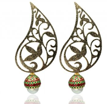 Ruby And Emerald Earrings