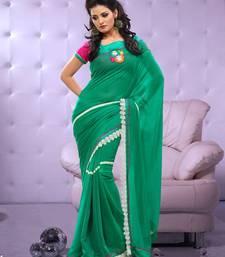 Buy Full Dyed Chiffon Sari Ecocity206 chiffon-saree online