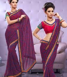 Buy Georgette Printed Sari Ecocity301 georgette-saree online