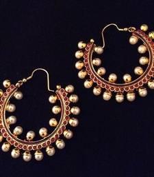 Buy Red Pearl hoops aceaz003ma hoop online