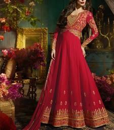 Buy Red Georgette bollywood salwar malaika-arora-khan online