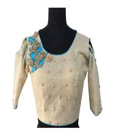 Buy Multicolored embellished fancy fabric stitched blouse readymade-blouse online