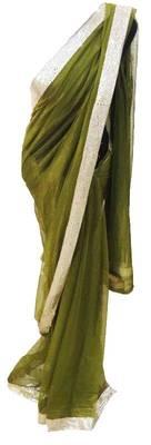 Green Net saree