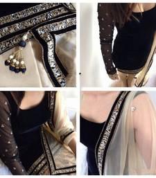 Buy Black  Embrodiery Velvet  Semi stitched Punjabi  Salwar Suit punjabi-suit online