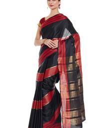 Buy Chhabra 555 Black Woven Art Silk Sarees With Blouse all-seasons-saree online