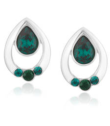 Buy Green Swarovski Elementsstuds stud online