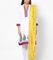Buy Yellow Lehariya  Cotton Dupatta stole-and-dupatta online