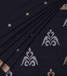 Buy Black uppada cotton handloom saree with blouse uppada-saree online