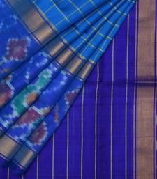 Buy Blue uppada silk handloom saree with blouse uppada-saree online