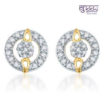 Sukkhi Exotic Gold  and Rodium plated CZ Earrings