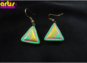 Triangle with Painted Design
