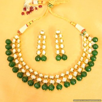 Royal look kundan double line necklace set