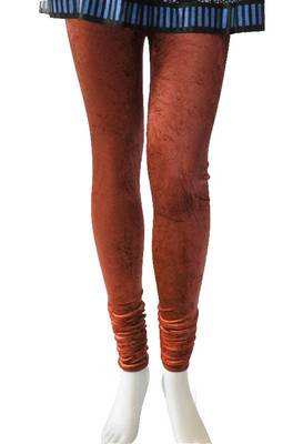 Just Women - Rust colour Velvet Leggings