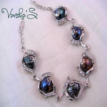 Natural Abalone Shell Bracelet-3