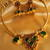 BEAUTIFUL HANDMADE GREEN PALAKKA NECKLACE SET-DJ04372