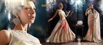 Ghunghroo Designer Lahenga Sari 7712